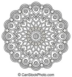 mandala with hand drawn elements - Hand drawn decorated ...