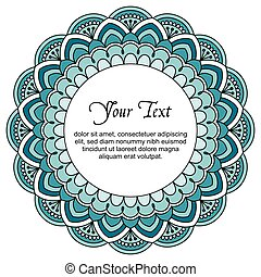 Mandala with text.