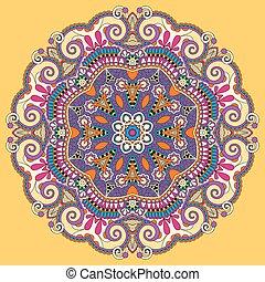 mandala, yellow circle decorative spiritual indian symbol
