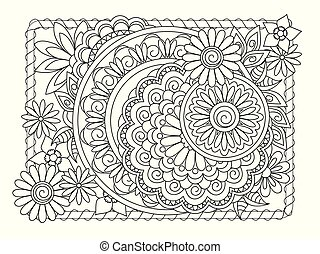 mandalas and flowers in the frame
