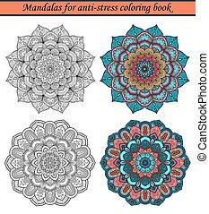 Mandalas for Anti-Stress Coloring Book 1