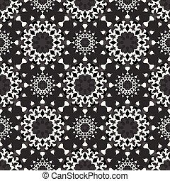 Mandalas Seamless pattern. Vintage decorative elements. Vector illustration