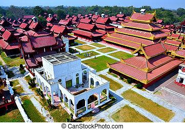 Mandalay palace, Myanmar Burma - Mandalay is a tourist city...