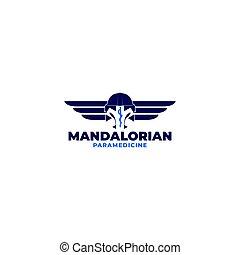 Mandalorian Paramedic Logo Design Vector