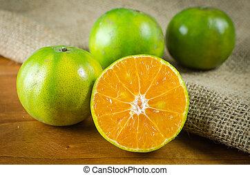 mandarijn, fruit, sinaasappel