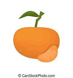 mandarijn, fruit., vrijstaand