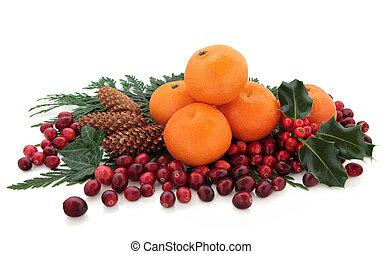 mandarin, e, arando, fruta