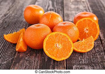 mandarin, fruit, mandarine, ou