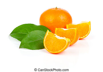 mandarin, isolado, branco, fundo