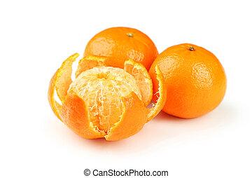 Mandarin isolated on white