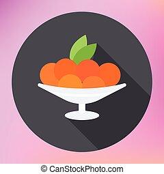 mandarin orange citrus in plate