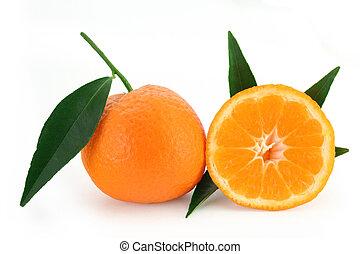 Mandarin orange - citrus reticulata - Mandarine oranges with...