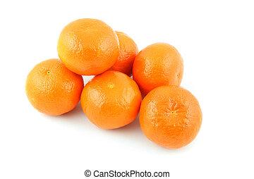 Mandarin orange - details of mandarin orange isolated on...