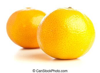 mandarin orange isolated on a white background