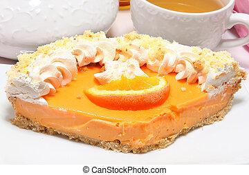 mandarina, pastel