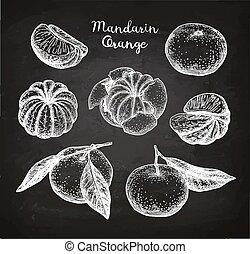 mandarina, set.