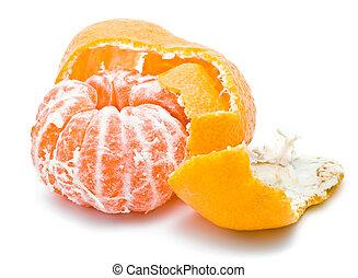 Mandarine - Fresh and juicy orange mandarine isolated on...