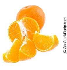 mandarine on a white background