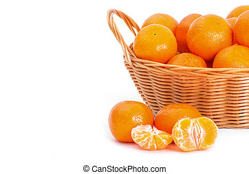 Mandarine on white