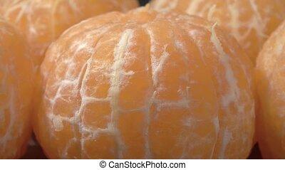 mandarines, mûre, juteux, close-up., fruit., pelé