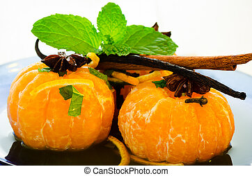 Mandarins in spiced syrup