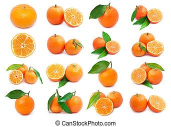 Mandarins - Collection of juicy tangerines or mandarins...