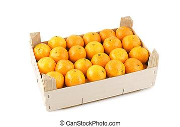 mandarins - many mandarins in container