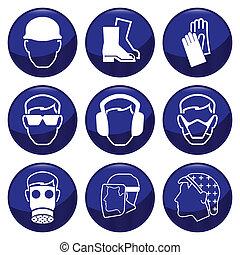 Mandatory construction related icon set each individually ...