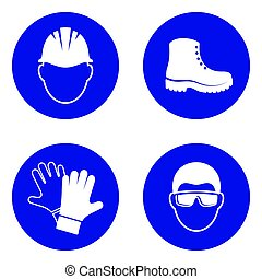 Mandatory health safety signs - Simple mandatory health...