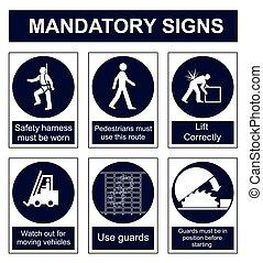 mandatory, segurança, sinal