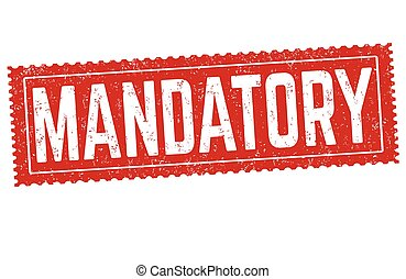 mandatory, sinal, ou, selo