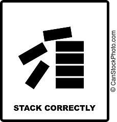 Mandatory Stack Correctly Sign. Information mandatory symbol...