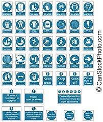 mandatory, veiligheid, tekens & borden