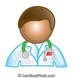 mandlig doktor, ikon