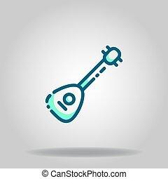 mandolin icon or logo in  twotone - Logo or symbol of ...