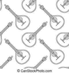 Mandolin, seamless, contour