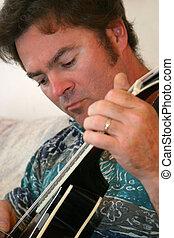 mandoline, homme