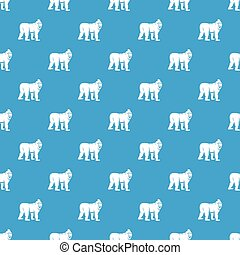 Mandrill monkey pattern seamless blue