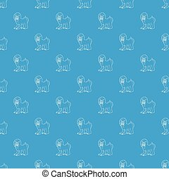 Mandrill pattern vector seamless blue