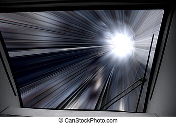 maneira, de, trem alta velocidade