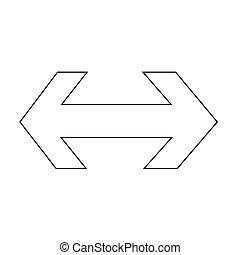 maneira, ilustração, 2, desenho, ícone seta