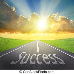 maneira, para, sucesso