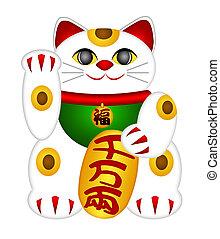 Maneki Neko Beckoning Cat - Maneki Neko Japanese Beckoning...