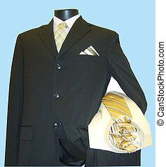 mens dress clothing on display