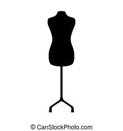 manequin silhouette isolated icon vector illustration design