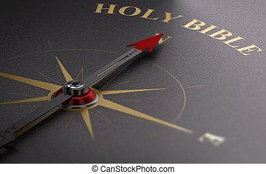 manera, católico, bible., santo, hallazgo, faith.