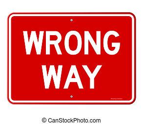 manera equivocada, señal