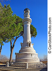 Manfredi Lighthouse at the Gianicolo ( Janiculum Hill ) in ...