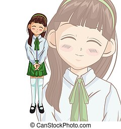 Manga cartoon girl design