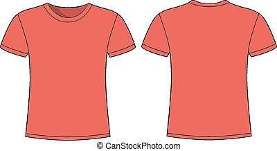 manga curta, homens, t-shirt, desenho, t